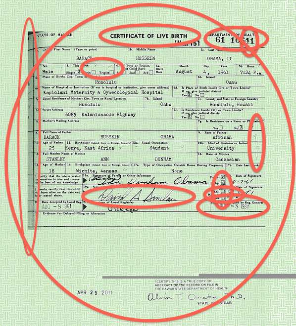 Obama Birth Certificate: Confirmed Forgery According To Top ...