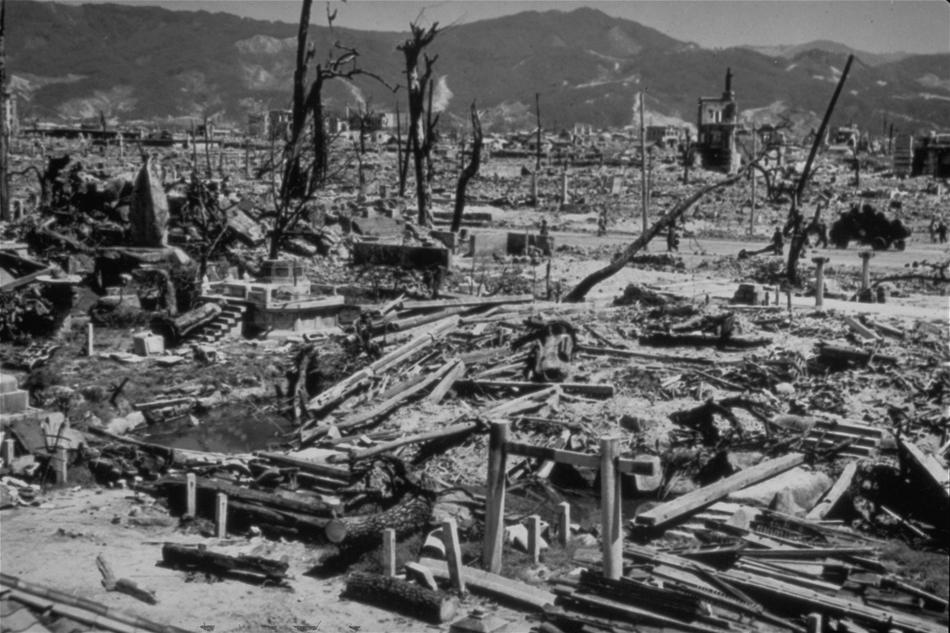 Destruction of Hiroshima in the aftermath of the 'atomic bomb'