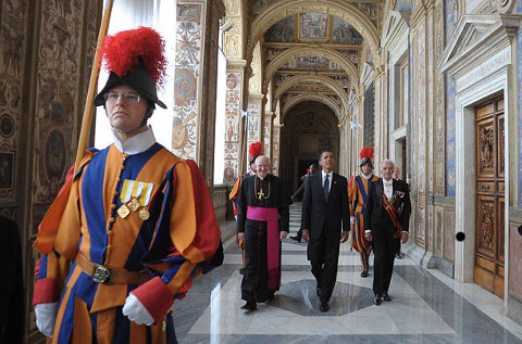 POTUS Obama at the Vatican Corporate – the Crown – headquarters