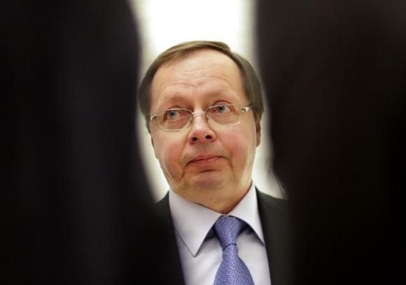 Russia's ambassador to the Organization for Security and Cooperation in Europe (OSCE) Andrey Kelin, attends a news conference after meeting of OSCE permanent council, in Vienna March 3, 2014. CREDIT: REUTERS/LEONHARD FOEGER