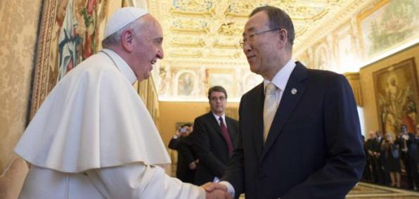 Pope Francis and U.N. General-Secretary Ban Ki-moon
