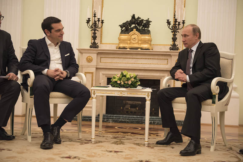 Tsipras meeting with Putin Kremlin