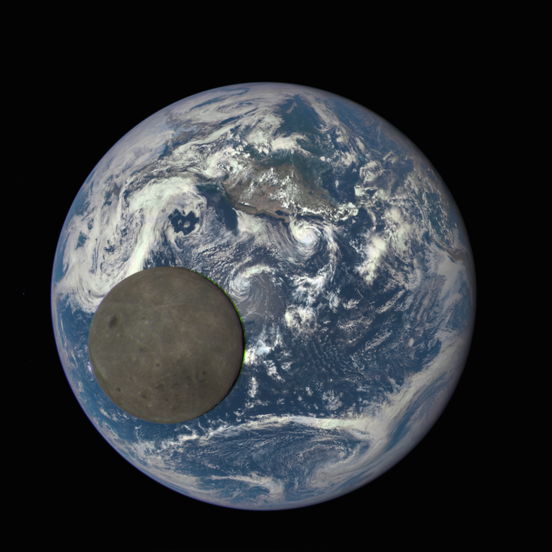 This image shows the far side of the moon, illuminated by the sun, as it crosses between the DSCOVR spacecraft's Earth Polychromatic Imaging Camera (EPIC) camera and telescope, and the Earth - one million miles away © nasa.gov / NASA
