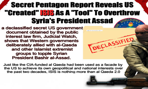 Secret-Pentagon-Report-Reveals-US-Created-ISIS-As-A-Tool-To-Overthrow-Syrias-President-Assad