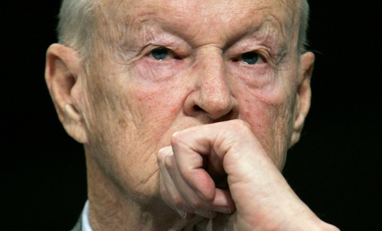 Former National Security Adviser Zbigniew Brzezinski testifies before the Senate Foreign Relations Committee on Capitol Hill in Washington February 1, 2007.   REUTERS/Jim Young    (UNITED STATES)