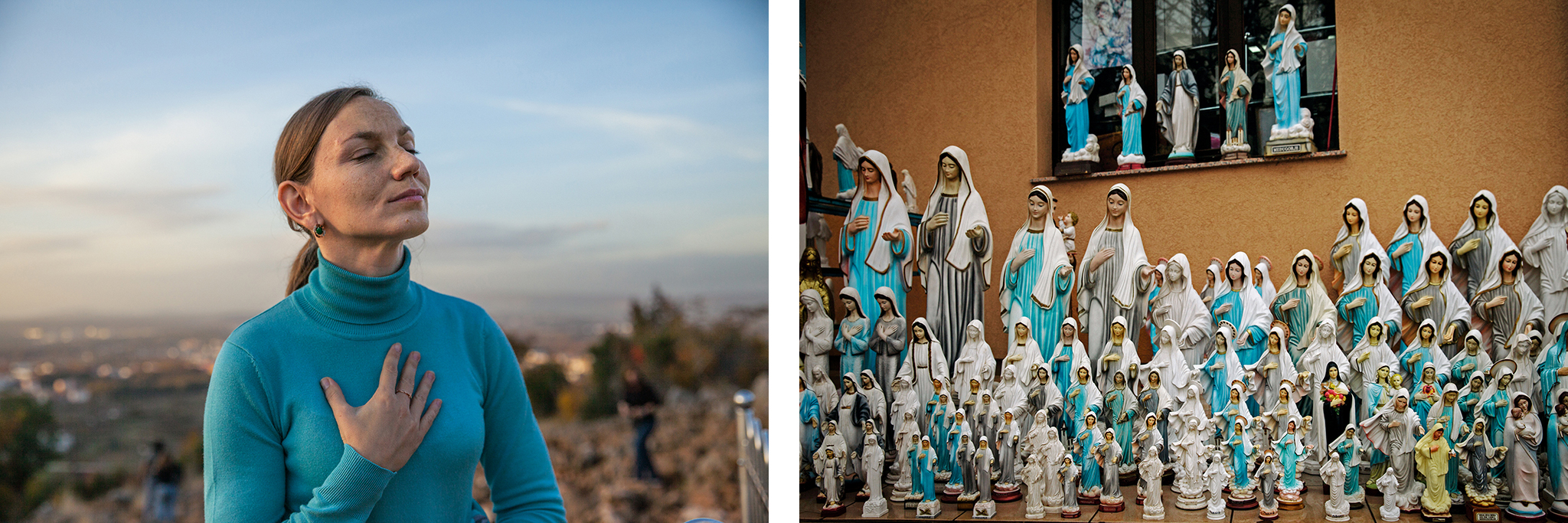 "Anna Pidlisna, 32, of Ukraine, says she came to Medjugorje—where plaster statues can fetch about 30 euros apiece—after receiving a vision of Mary. Apparitions aren't the only Marian sign; many say they've seen a ""spinning sun."" Physicist Artur Wirowski has an earthly explanation: It can occur when sunlight reflects and refracts charged ice crystals vibrating in sync within the clouds."