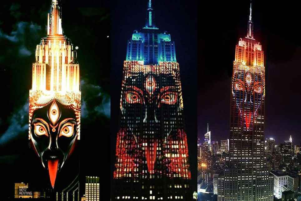 Image Of Hindu God On Empire State Building