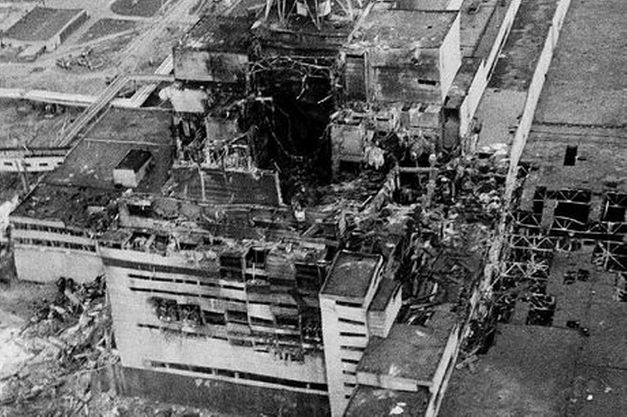 The explosion at the Chernobyl nuclear power plant