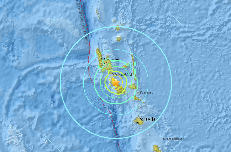 Magnitude-7.0 Earthquake Shakes Pacific Island Nation Vanuatu