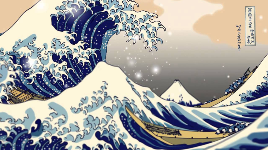 The Great Wave off Kanagawa (神奈川沖浪裏) Source: public domain