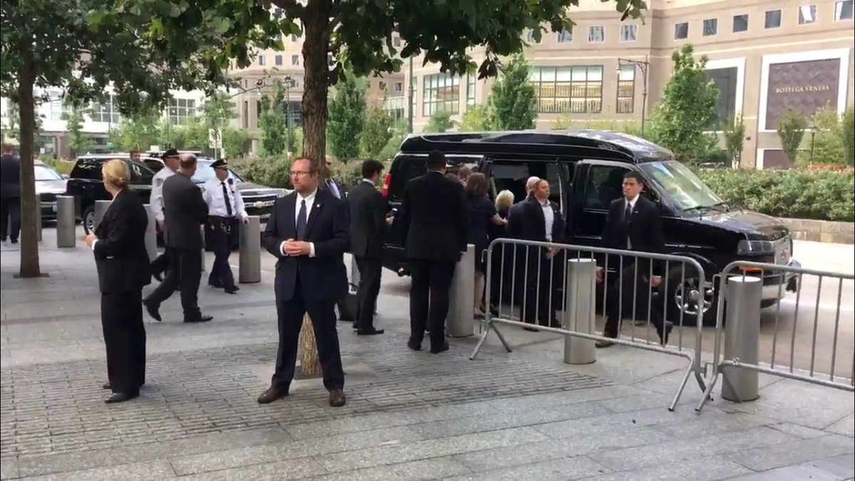 Video appears to show Hillary Clinton collapsing as she leaves 9/11 memorial