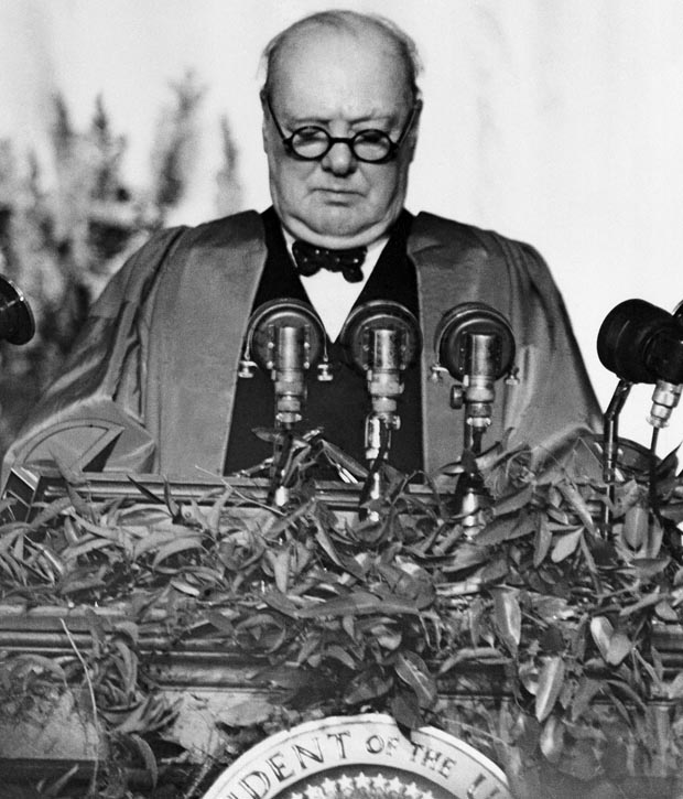 "churchill s iron curtain speech How did winston churchill's ""iron curtain"" speech impact the truman doctrine a) the speech convinced americans that the ussr was an enemy, rather than an ally, which led to the creation of the truman doctrine."