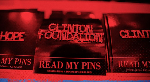 A brooch for sale at the Clinton Museum Store in Little Rock, Arkansas (Lucy Nicholson / Reuters / Zak Bickel / The Atlantic)