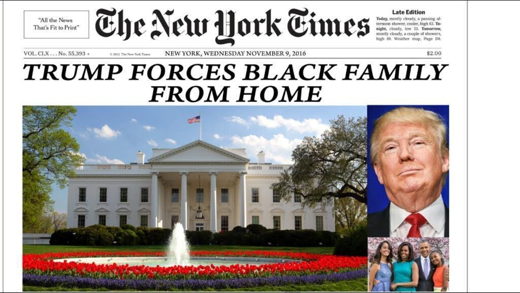 New York Times Trumps Evicts Black Family From Home