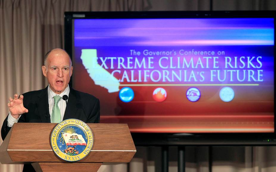 CA Governor Jerry Brown says wildfires caused by climate ...