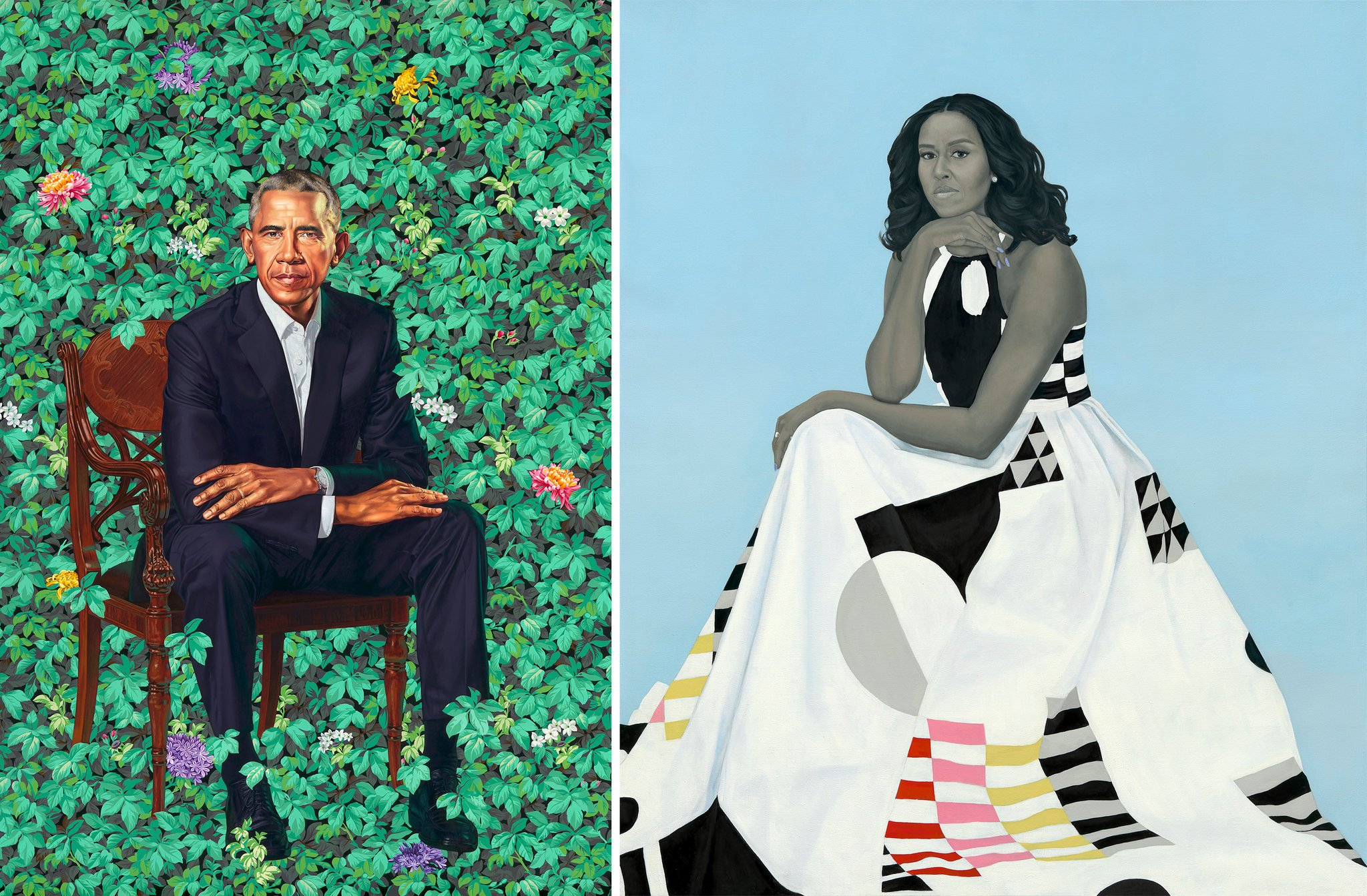 The Obama Official Portraits: When art imitates life and truth is stranger than fiction