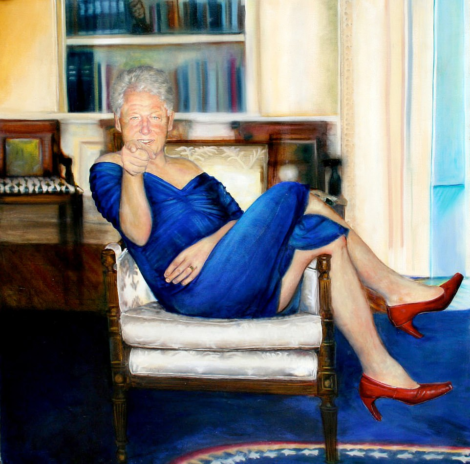 Why did Jeffrey Epstein have a picture of Bill Clinton in a blue dress in his Manhattan?