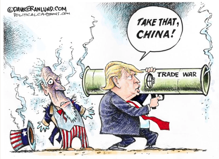 Trump's foreign policies have caused a recession which will trigger a global depression!